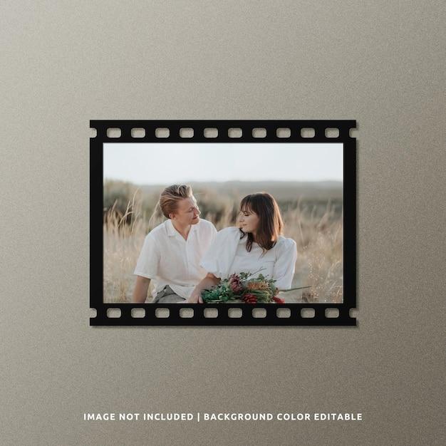 Landschap zwart papier filmframe mockup Premium Psd