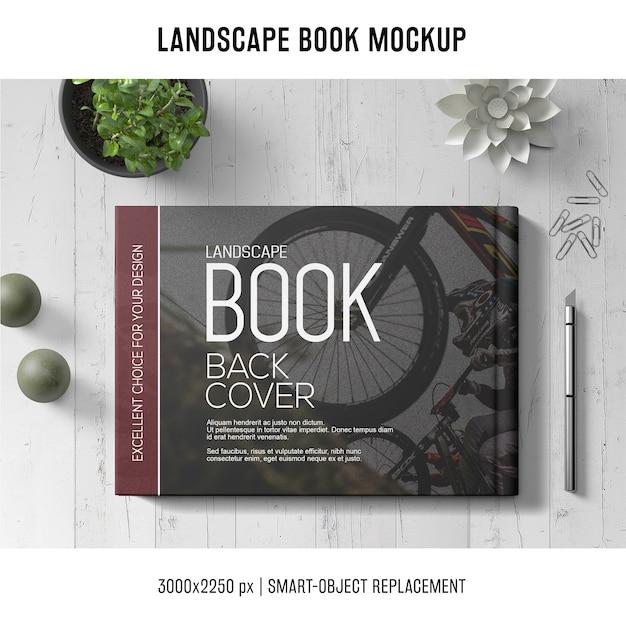 Lanscape book mockup Psd Gratuite