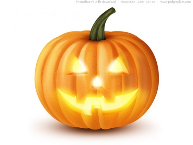 Lanterna jack o ', halloween zucca icona (psd) Psd Gratuite