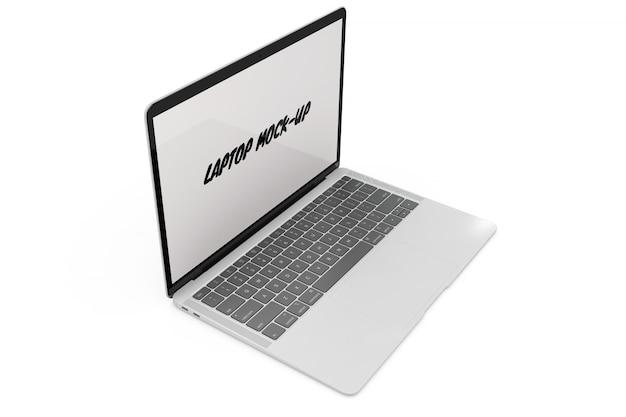 Laptop mock-up geïsoleerd Gratis Psd