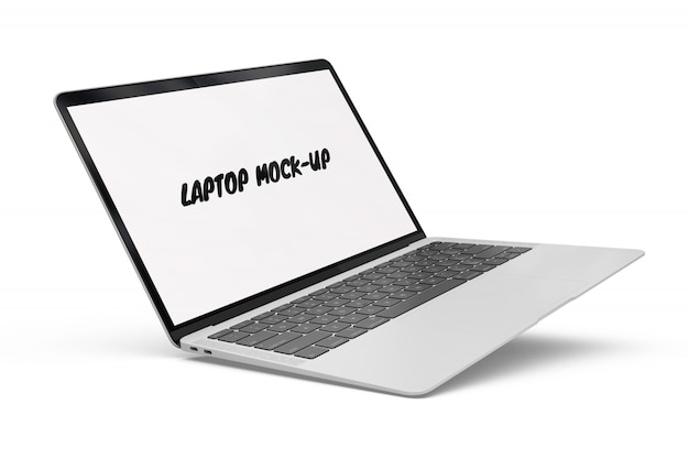 Laptop mock-up geïsoleerd Gratis Psd