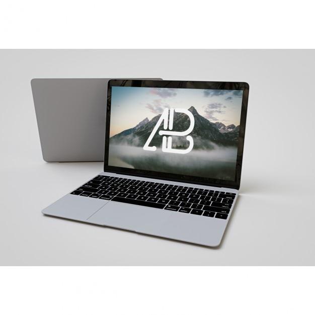Laptop mock up Psd Gratuite
