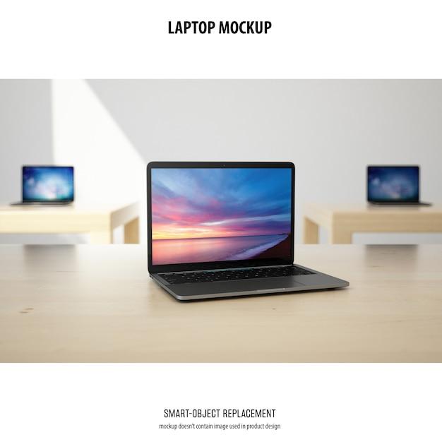 Laptop mockup Gratis Psd