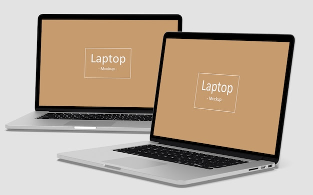 Laptop mockups Premium Psd