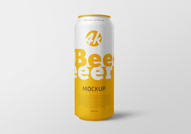 Lata de aluminio maqueta cerveza o paquete de refrescos PSD Premium