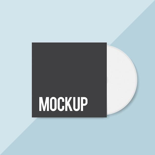 Lege cd-cover ontwerp mockup Gratis Psd