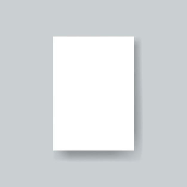 Lege papieren brochure sjabloon mockup vector Gratis Psd