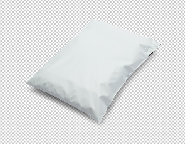 Lege witte plastic zak pakket mockup sjabloon Premium Psd