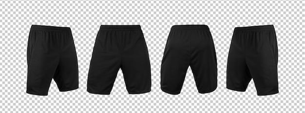 Lege zwarte korte broek broek mock-up sjabloon Premium Psd