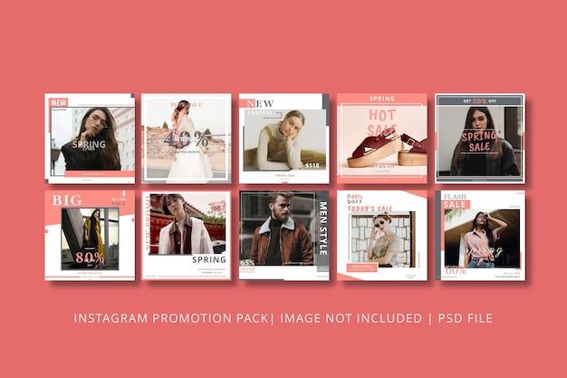 Lente verkoop instagram post grafische sjabloon Premium Psd