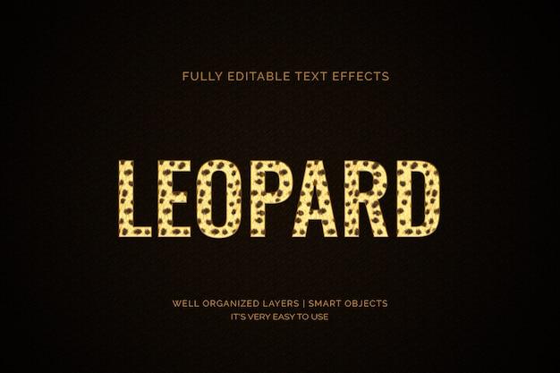 Leopard teksteffect Premium Psd