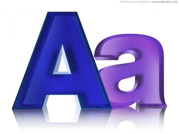 Letras mayúsculas y minúsculas, PSD icono | Descargar PSD gratis