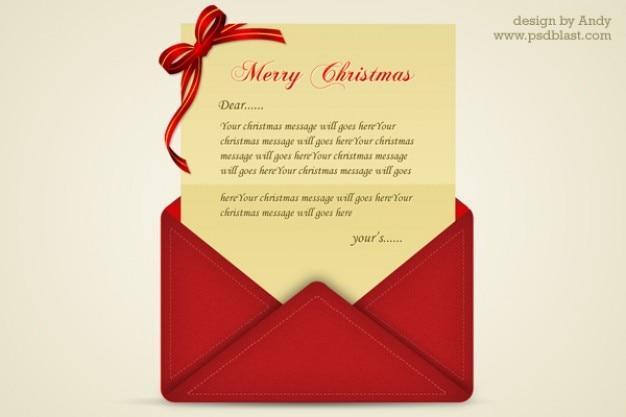 Immagini Di Lettere Di Natale.Lettera Di Auguri Di Natale Psd Scaricare Psd Gratis