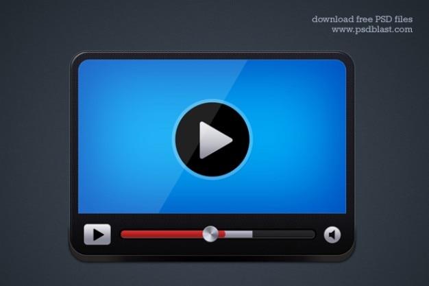 Lettore video icona Psd Gratuite
