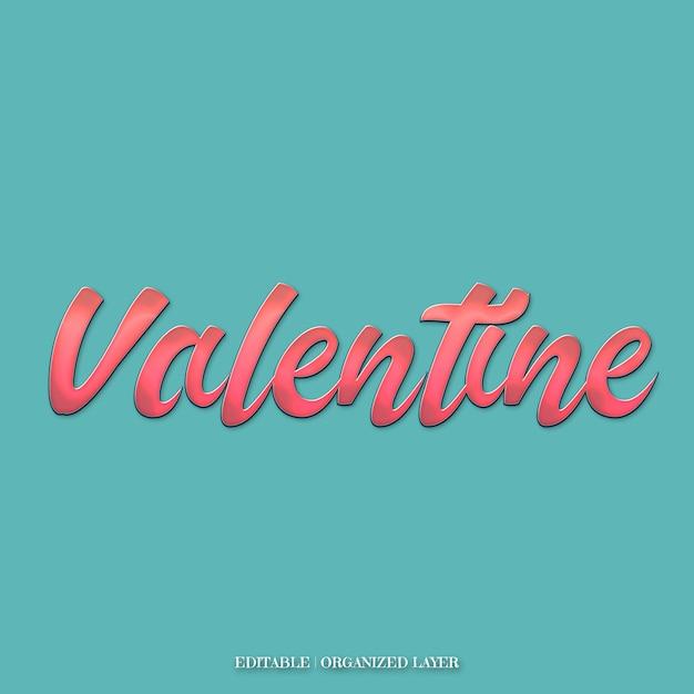 Leuke roze valentijn teksteffecten Premium Psd