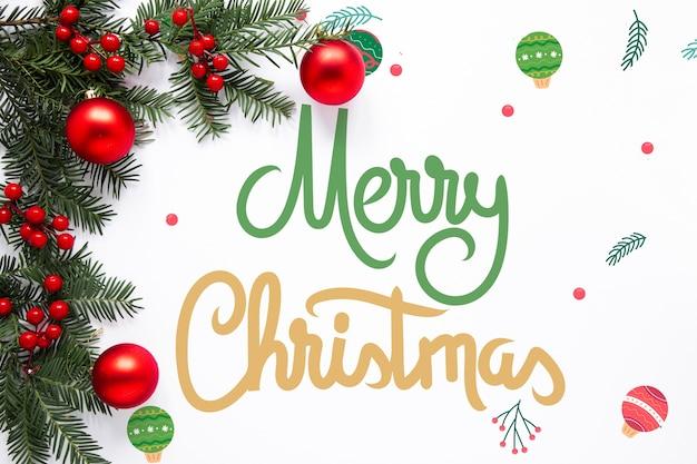 Leuke vrolijke kerst belettering Gratis Psd