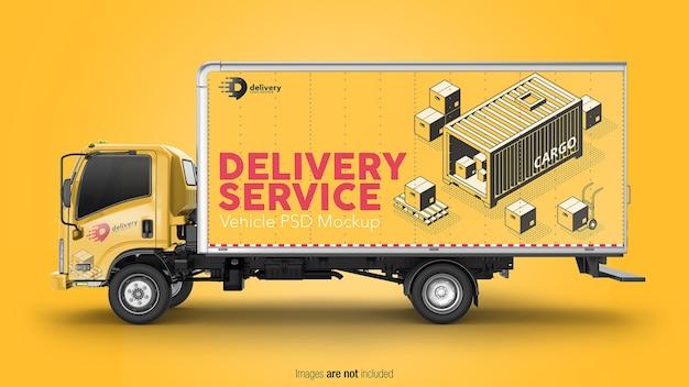 Levering truck mockup geïsoleerd Premium Psd