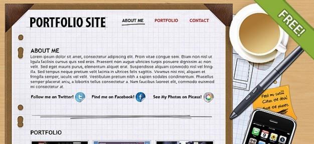 Libre PSD Diseño Portafolio Psd Gratis