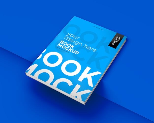 Libro mockup sul blu Psd Premium