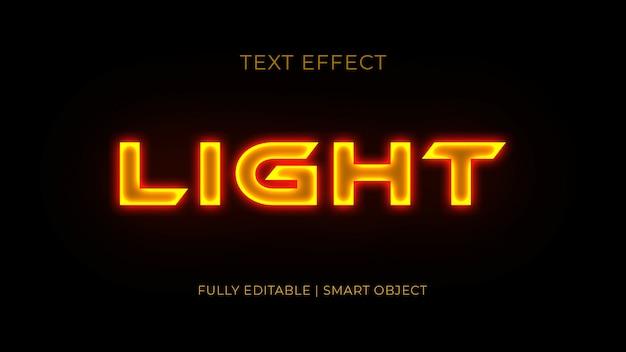 Licht 3d-teksteffect Premium Psd