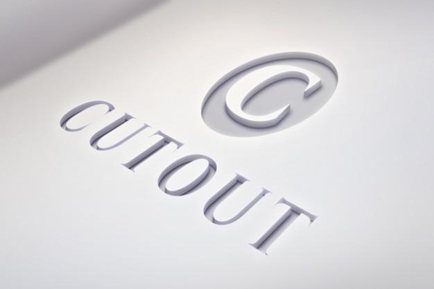 Licht logo mockup met schone gegevens Gratis Psd