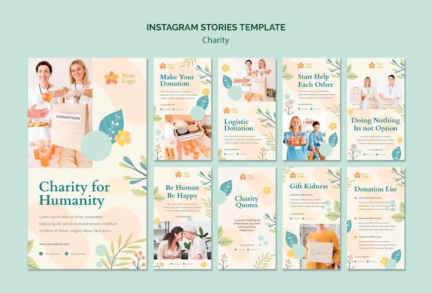 Liefdadigheid instagram verhalen Gratis Psd