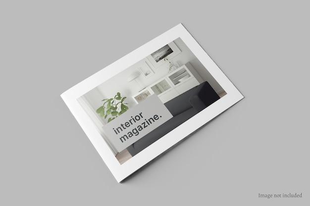 Liggende brochure en catalogusomslagmodel perspectiefweergave Premium Psd