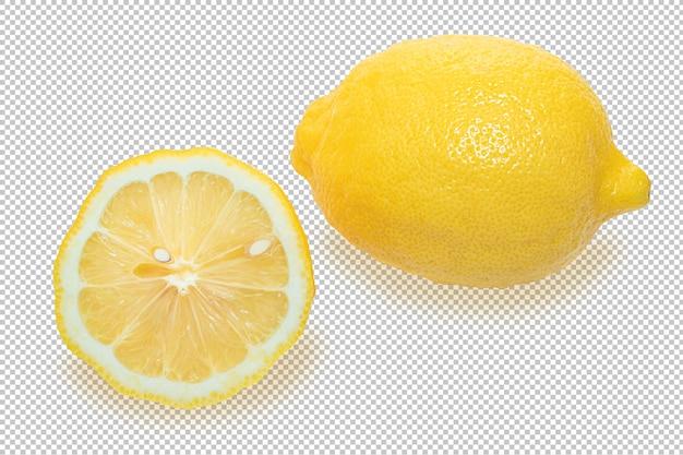 Limoni gialli isolati su trasparente Psd Premium