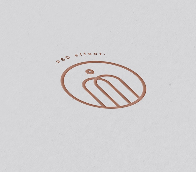 Logo en teksteffectmodel op papier Gratis Psd