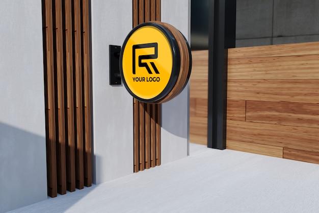 Logo kantoor teken mockup Premium Psd