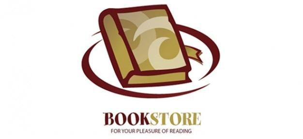 Logo libro vector plantilla de dise o para las tiendas en for Logotipos de bibliotecas