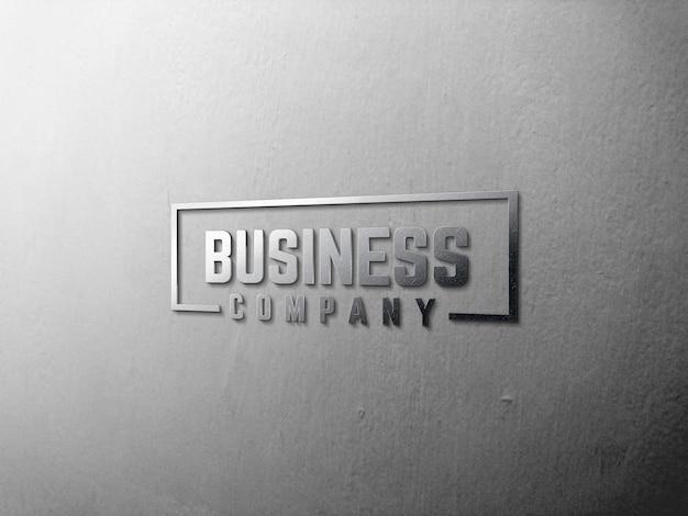 Logo mockup 3d vinden Premium Psd