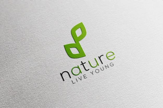 Logo mockup in wit papier Premium Psd