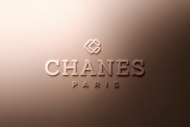 Logo mockup luxury gold Premium Psd