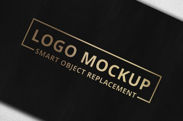 Logo mockup on card Premium Psd