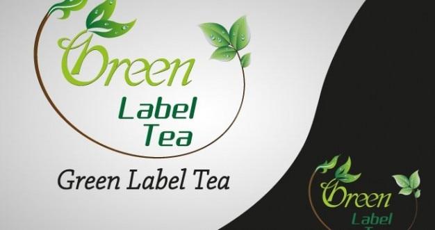 Logotipo de la marca del t etiqueta verde descargar psd - Marcas de te ...