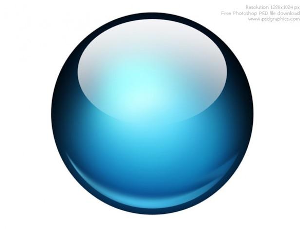 Lucido palla icona di photoshop Psd Gratuite
