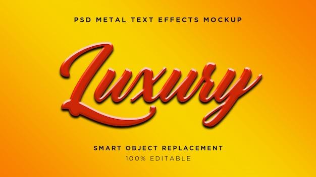 Luxe 3d-teksteffect Premium Psd