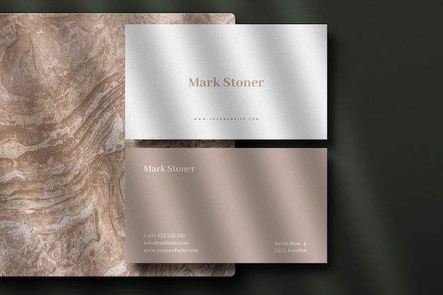 Luxe busienss card mockup Premium Psd
