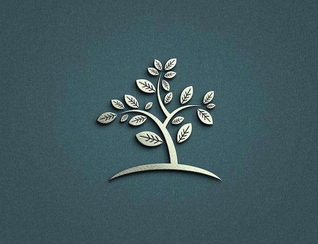 Luxe logo mockup ontwerp Premium Psd