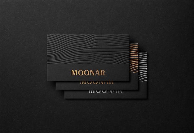 Luxe visitekaartje mockup met gouden boekdruk effect Premium Psd