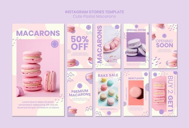 Macarons instagram verhalen sjabloon Gratis Psd
