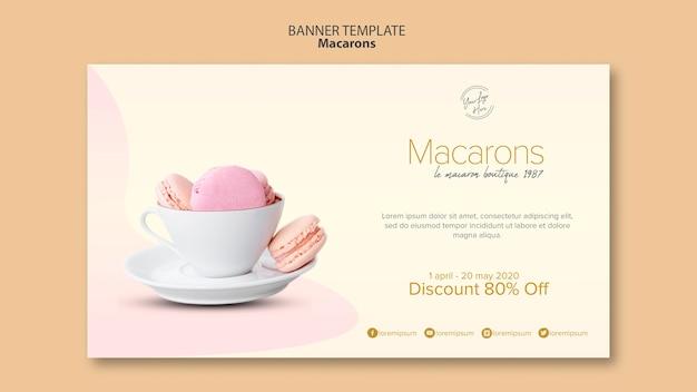 Macarons verkoop met korting Gratis Psd