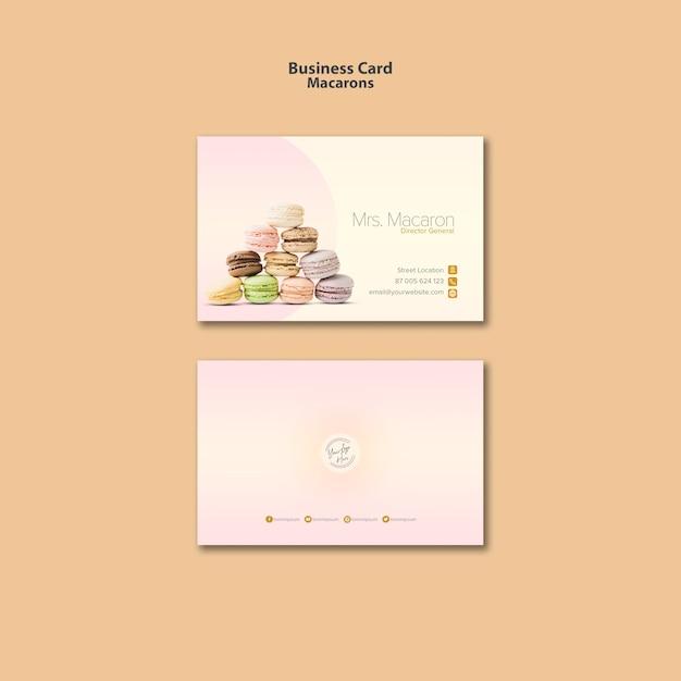 Macarons visitekaartje sjabloonstijl Gratis Psd
