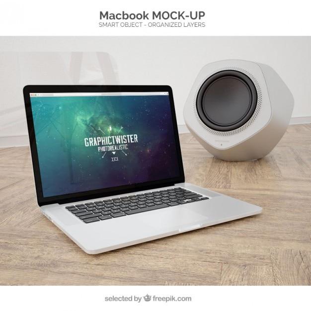 Macbook mockup Gratis Psd