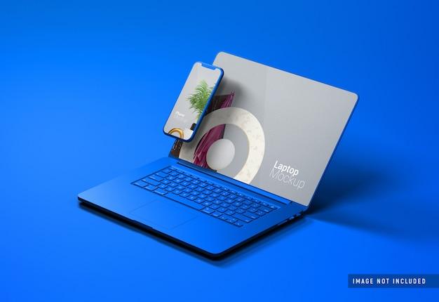 Macbook pro klei mockup Premium Psd