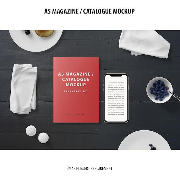 Magazine catalogus mockup Gratis Psd