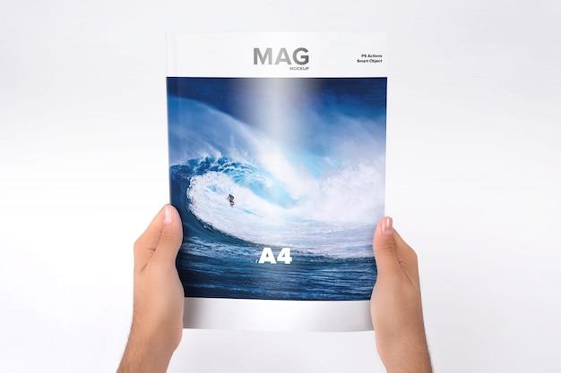 Magazine mock up di progettazione Psd Premium