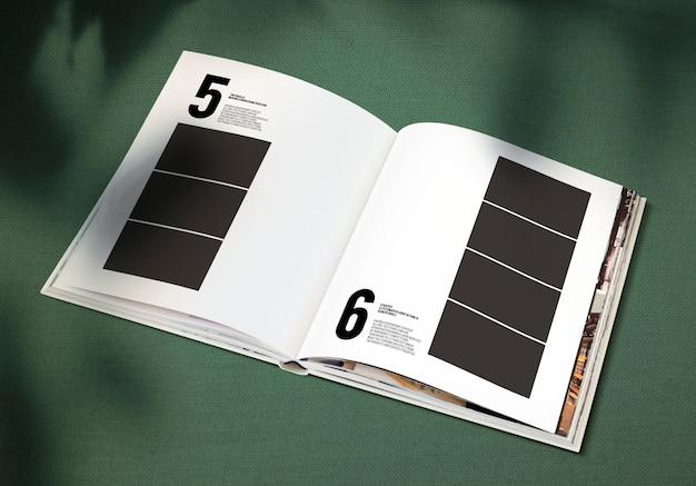 Magazine mockup met een lege ruimte Gratis Psd