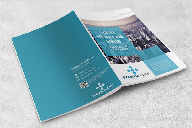 Magazine o brochure mockup Psd Premium